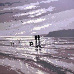 27. winter beach walk