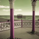 Bandstand and Pier, Brighton (Infra Red)