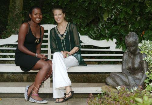 Lady Fitzalan Howard and friend
