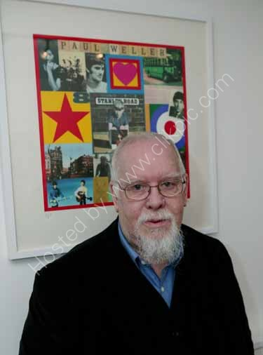 Artist Peter Blake, designer of Sgt. Peppers Lonely Hearts Club Band album cover!