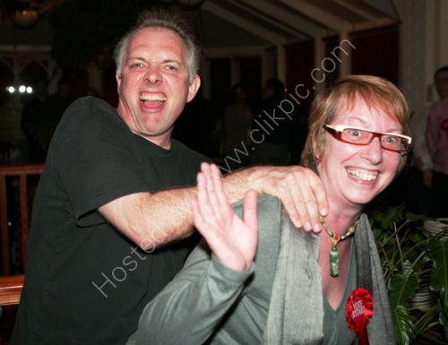 Rik Mayall and Sue Addis at Donatello