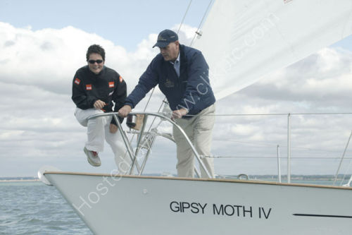 Dame Ellen on Gypsy Moth