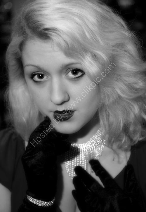 Jazz singer Jenny in retro style