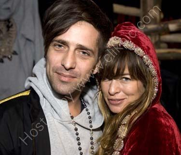 Jade Jagger with  Dan Williams