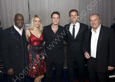Chris Ellison with stars from The Bill