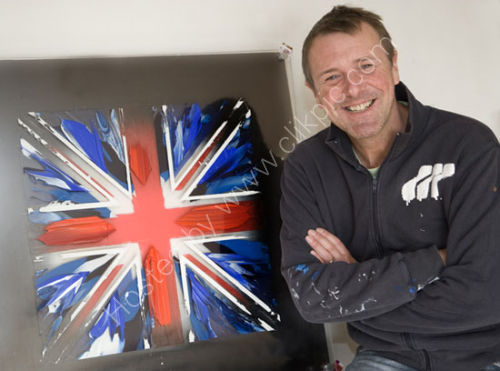 Phil Tufnell With His Latest Work at JAG