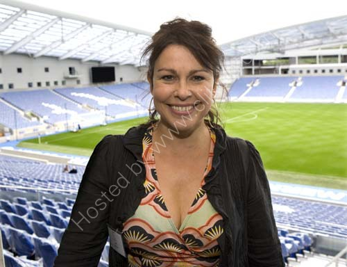 Julie Graham at Amex Stadium