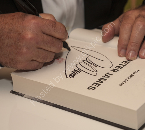 Peter James You Are Dead book launch