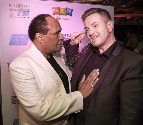 Ray Lewis from The Drifters with Dave Hill from E3 Group
