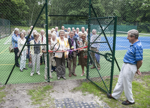 New tennis courts at Lodge Hill