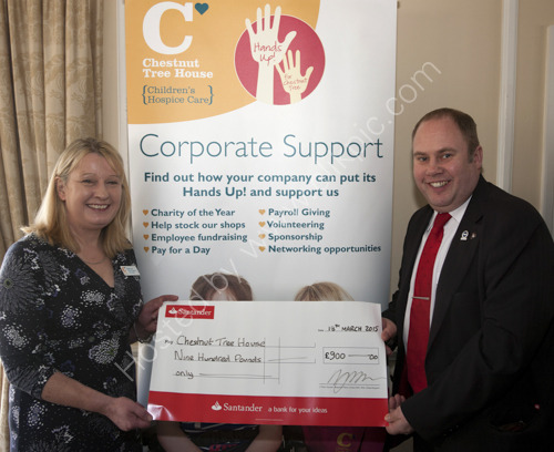 Cheque presentation for Chestnut Tree House