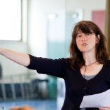 Polly Thomas, director, during reharsals at the Royal Exchange Theatre