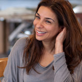 Shobna Gulati rehearsing for a show at the Royal Exchange Theatre
