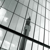 BT Tower reflection - Great Charles Street Queensway