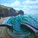 Mullion cove Green Sea
