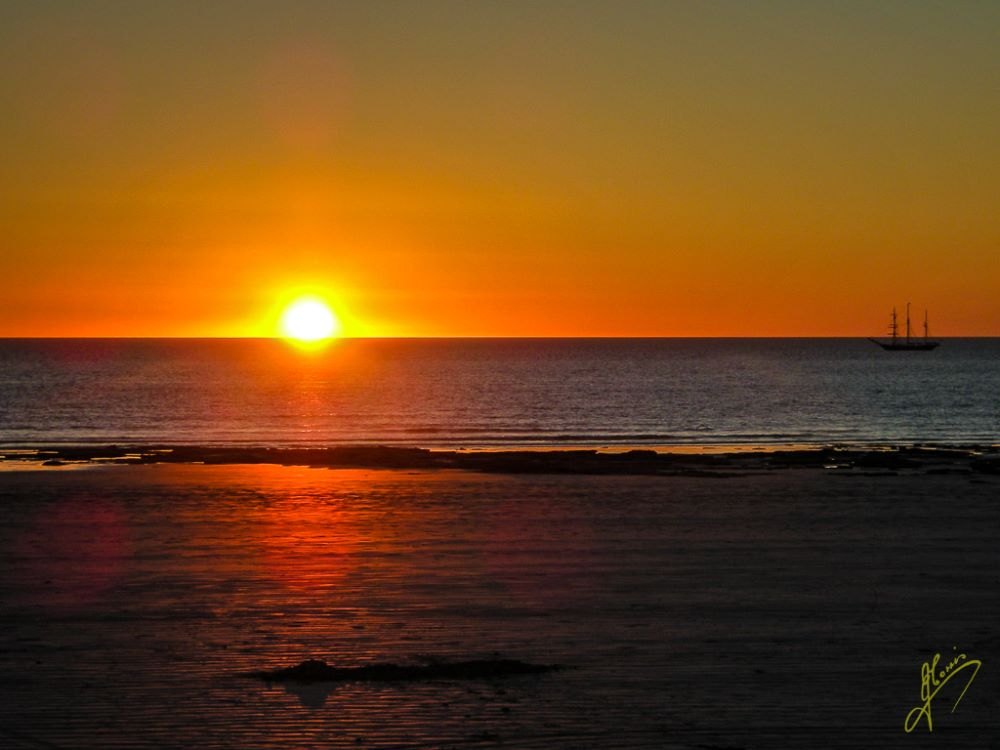 Sunset at Coral Beach, Broome, Western Australia.
