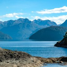 "Lake Te Anau, ""Gateway to Fiordland National Park""."