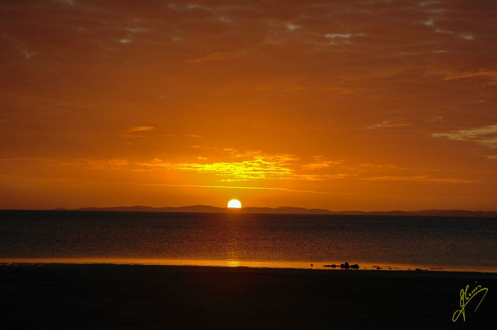 Sunset at Loyalty Beach, Bamaga, Queensland.