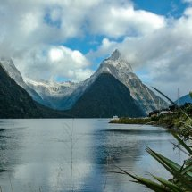 Mitre Point Sunrise, Milford Sound, Fiordland.