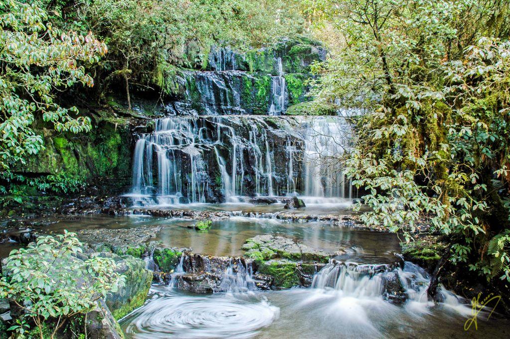 Purakakauniu Falls, The Catlins.