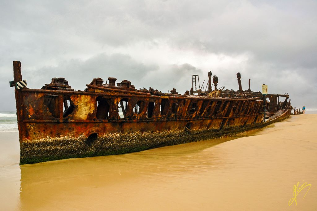 Wreck of the Moheno, Fraser Island, Queensland.