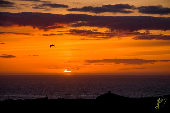 Sunset at Abereiddi Bay.