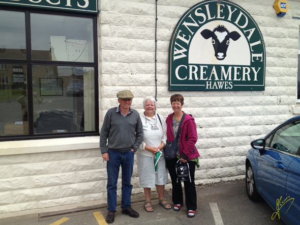 With Judy and Brian at Wensleydale Creamery.