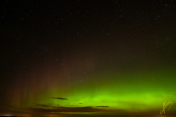 Late Evening, Aurora Borealis.