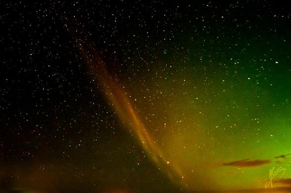 Early morning, Aurora Borealis with Proton Arc.