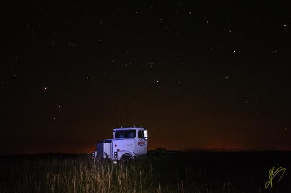 Truck Light Painting.