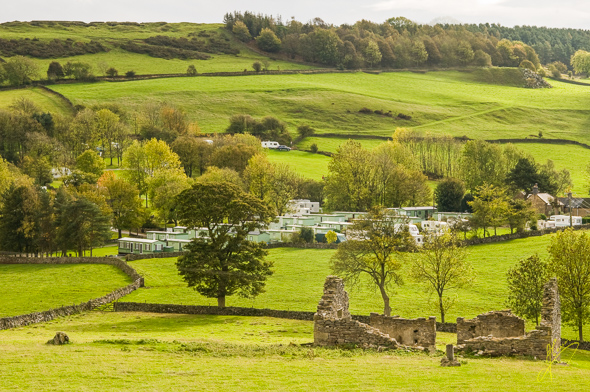 View to the Bakewell Caravan and Camping Club Site.