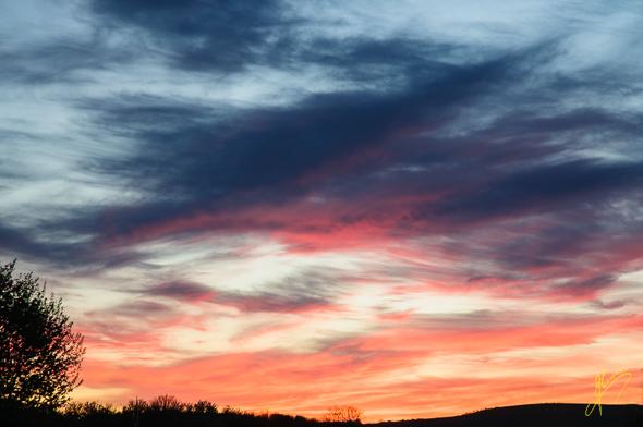 Sunset at Berwick Seaview Caravan Club Site.