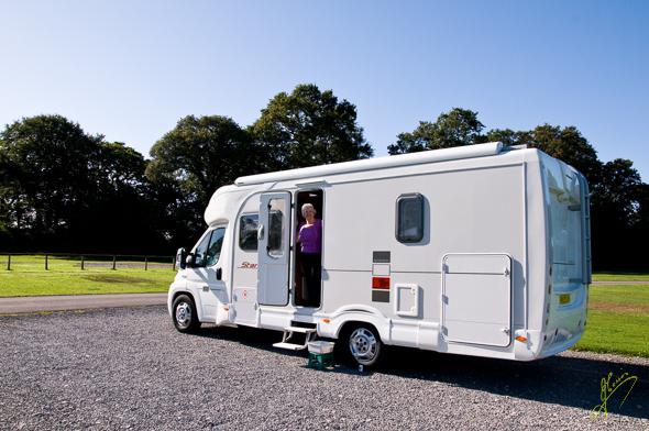 Black Knowl Caravan Club Site.