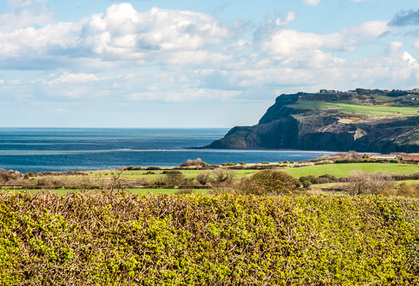Croftlands Certificated Site view towards Robin Hoods Bay.