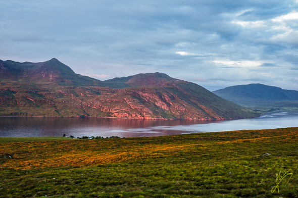 Evening Light at Little Loch Broom.