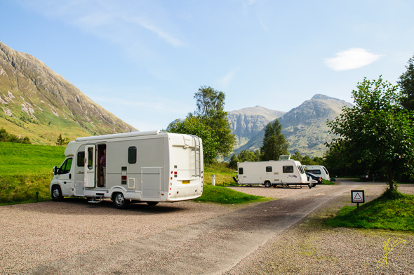 Glencoe Camping and Caravan Club Site.