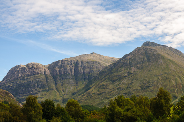 Glencoe Camping and Caravan Club Site view.