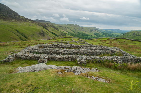 Hardknott Pass Roman Fort.