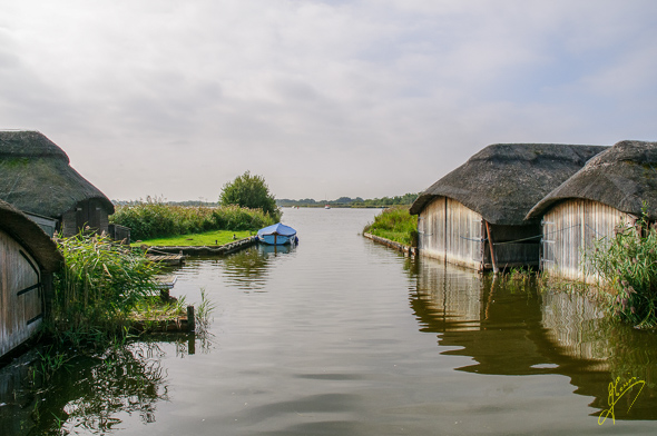 Hickling Broad Boathouses. (See text  23rd September 2013)