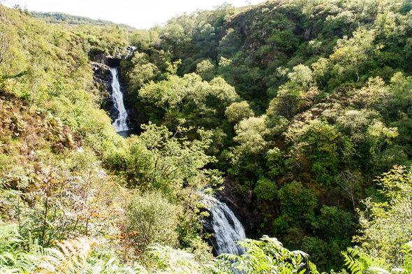 Inchree Waterfall.