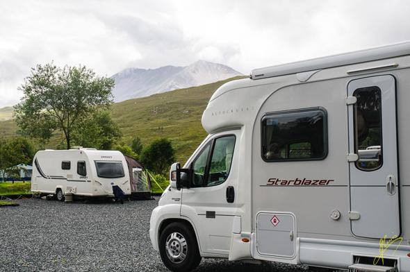 Kinlochewe Caravan Club Site.
