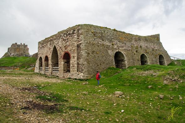 Lindisfarne Lime Kilns and Castle.