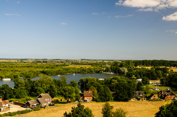 Malthouse Broad, the view from Ranworth Church Tower.