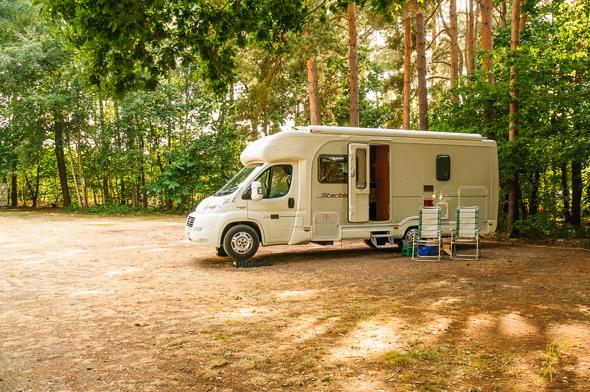 Mildenhall Caravan Club Site.