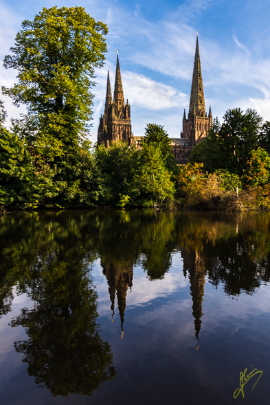 Early Morning at Minster Pool. Lichfield.