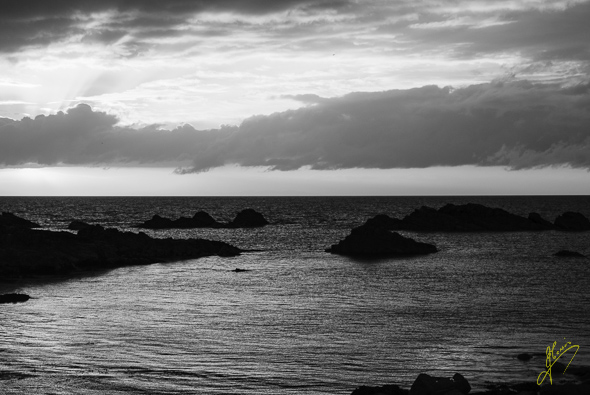 Evening Light in Black and White on the Moray Firth.