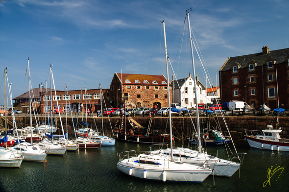 North Berwick Harbour.