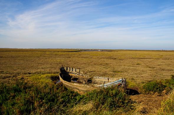 Old Boat at Blakeney Marsh.