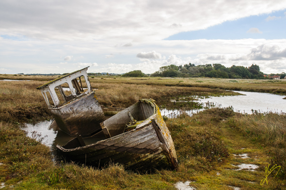 Old Boat at Thornham.