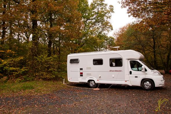 Park Coppice Caravan Club Site.